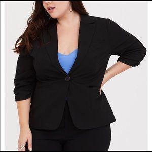 Torrid Black Madison Gabardine Blazer - Size 3